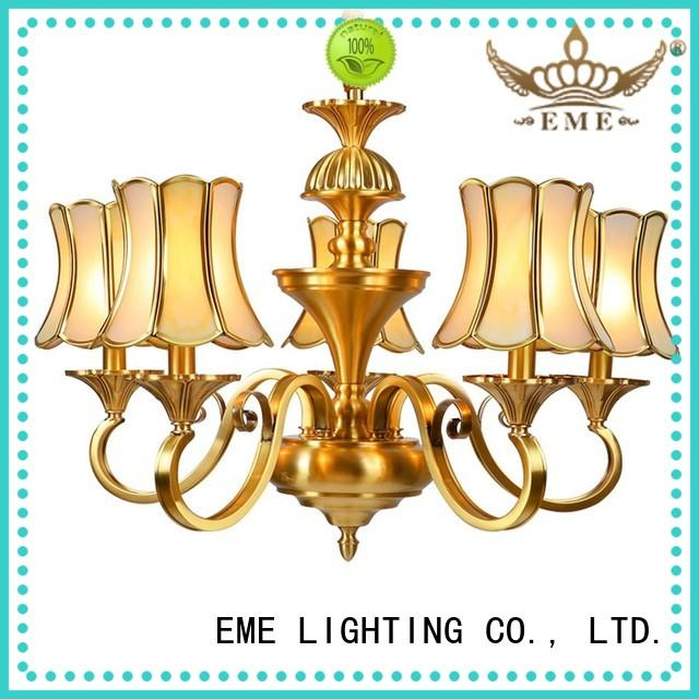 copper vintage brass chandelier traditional for big lobby EME LIGHTING