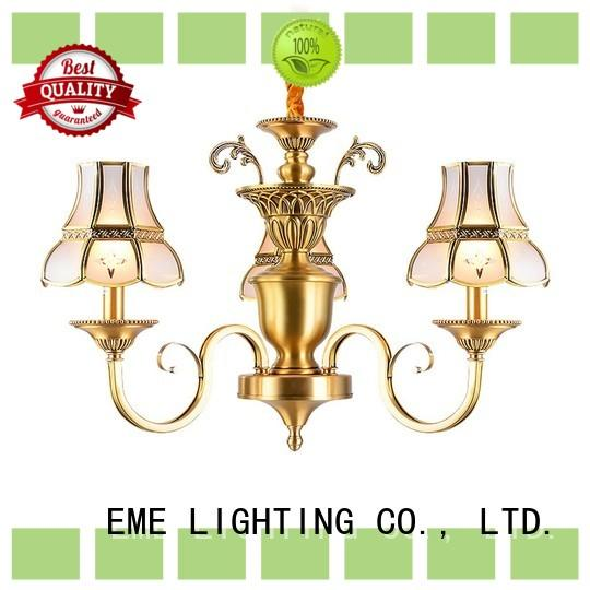 EME LIGHTING contemporary polished brass chandelier European for big lobby