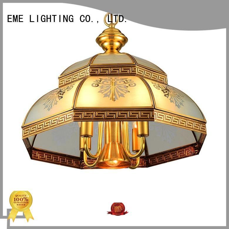 large 3 light brass chandelier round for dining room EME LIGHTING