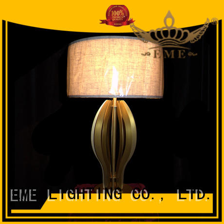 EME LIGHTING unique design western table lamps brass material for restaurant
