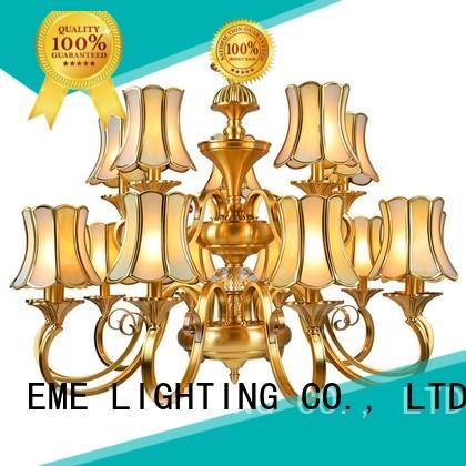 EME LIGHTING luxury bronze crystal chandelier unique