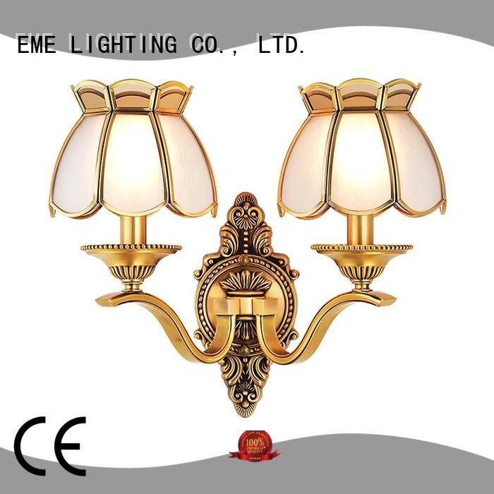 EME LIGHTING copper vintage wall sconces OEM for restaurant