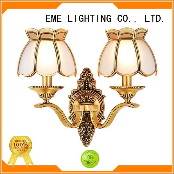 EME LIGHTING copper bedroom sconces ODM for indoor decoration