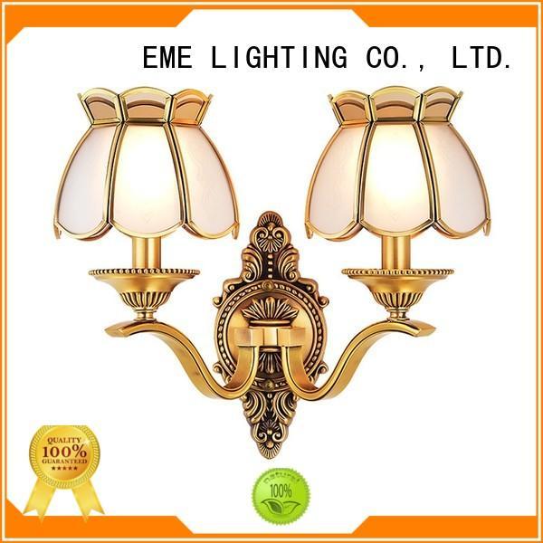EME LIGHTING copper bedroom sconces ODM for indoor decoration