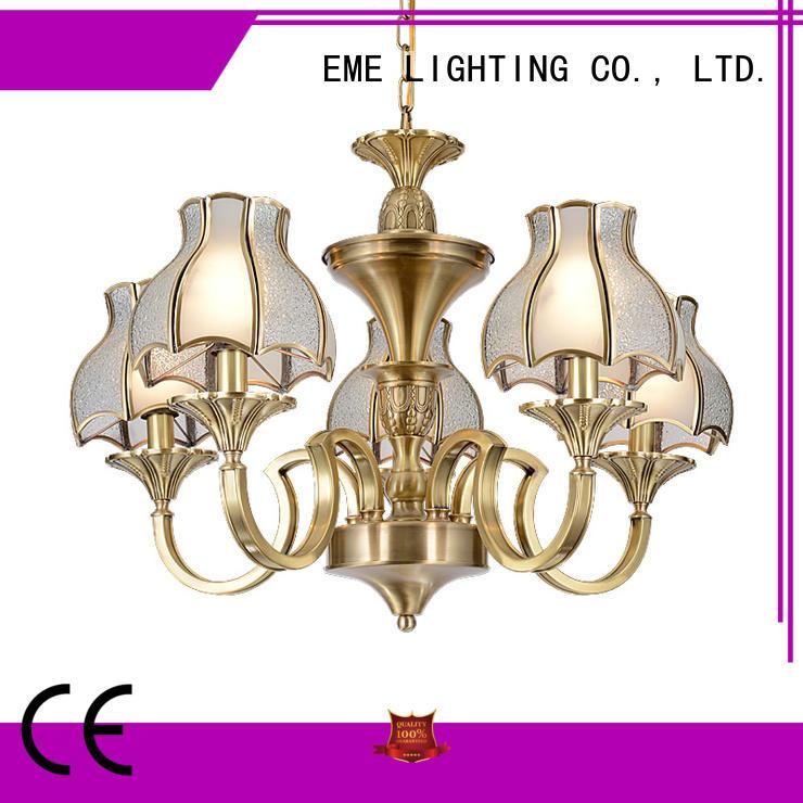 copper polished brass chandelier round for dining room EME LIGHTING