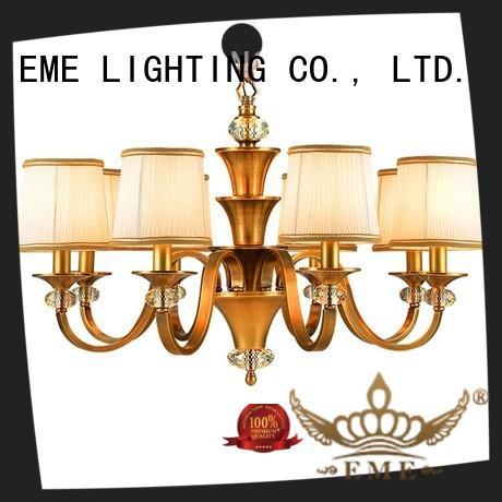 concise 3 light brass chandelier European EME LIGHTING