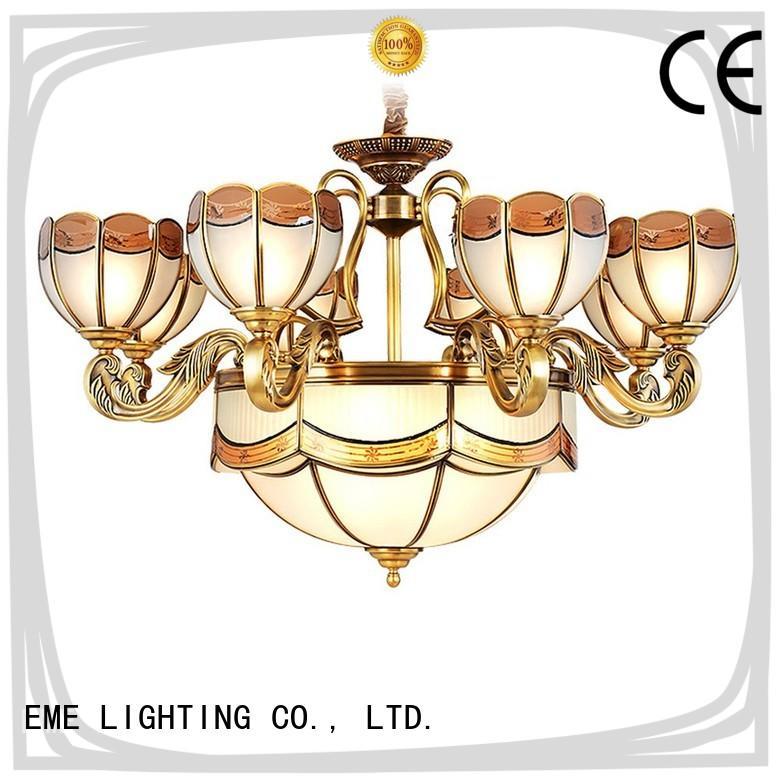 luxury vintage brass chandelier copper round