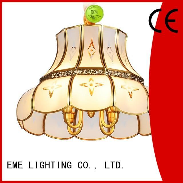 EME LIGHTING concise antique brass 5 light chandelier large for dining room