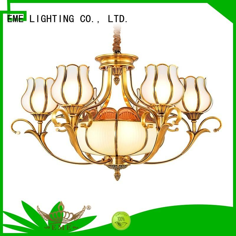 EME LIGHTING decorative brushed brass chandelier European for big lobby