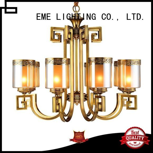 EME LIGHTING concise chandelier manufacturers glass hanging for big lobby