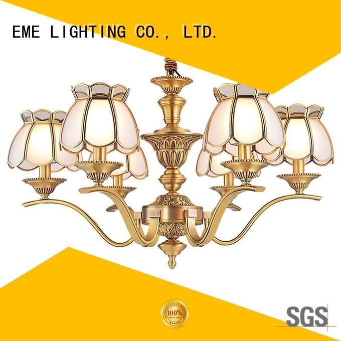 EME LIGHTING copper modern brass chandelier unique for dining room