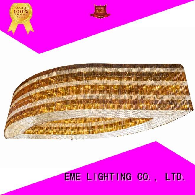 EME LIGHTING modern acrylic crystal chandelier bulk production for lobby