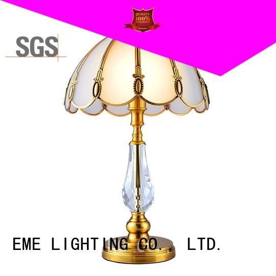 EME LIGHTING elegant western table lamps brass material for study