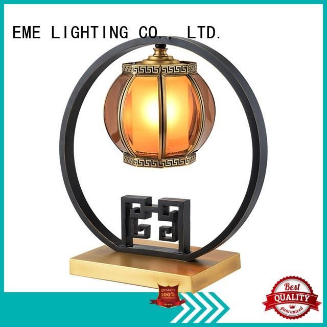 metal chinese table lamp gold for restaurant EME LIGHTING