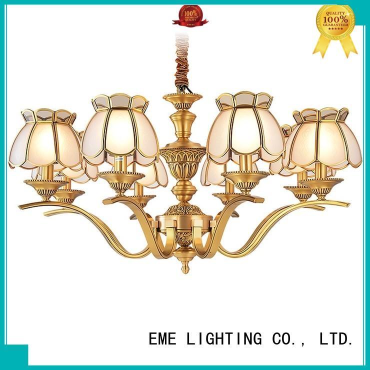 copper chandelier over dining table European for home EME LIGHTING