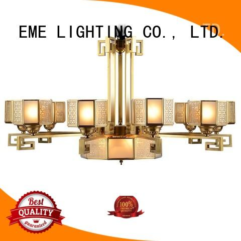 EME LIGHTING concise modern brass chandelier vintage
