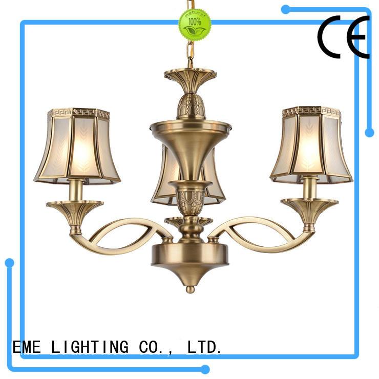 EME LIGHTING antique bronze crystal chandelier traditional