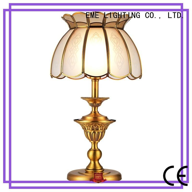 contemporary glass table lamps for bedroom brass material for restaurant