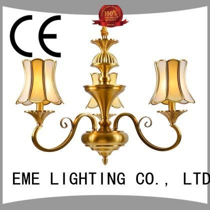 antique 3 light brass chandelier traditional for dining room EME LIGHTING