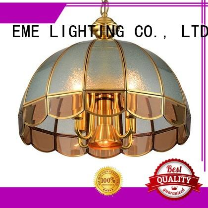 american style antique copper pendant light large for big lobby EME LIGHTING