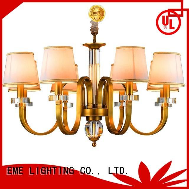 EME LIGHTING copper brushed brass chandelier vintage for big lobby