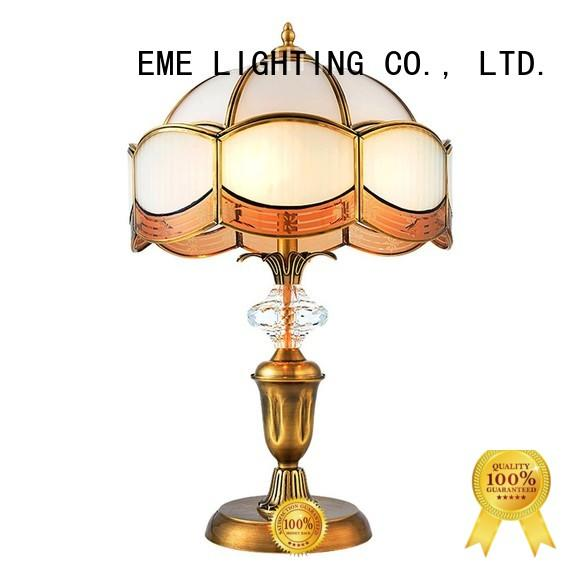 European style chrome and glass table lamps bulk production EME LIGHTING