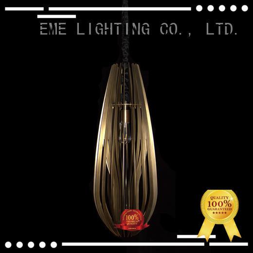 EME LIGHTING customized copper and glass pendant light supplier for family