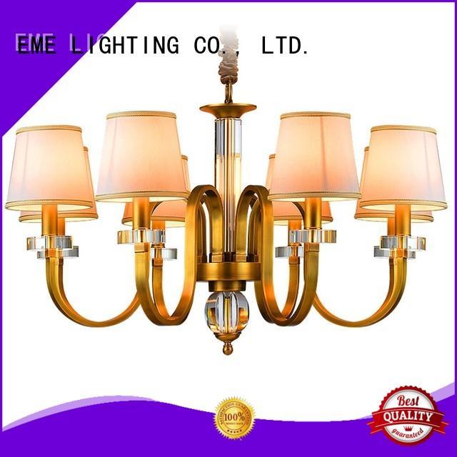 EME LIGHTING copper 8 light brass chandelier vintage for home