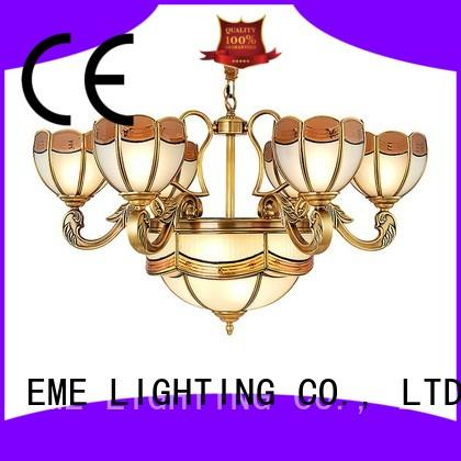 polished brass chandelier american style for big lobby EME LIGHTING
