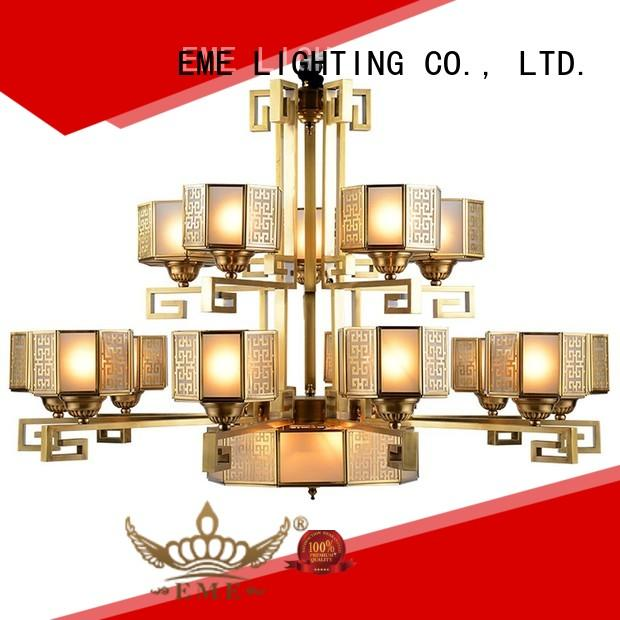 EME LIGHTING decorative antique brass chandeliers for sale copper for dining room