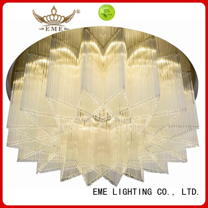 EME LIGHTING acrylic crystal drop chandelier bulk production for lobby