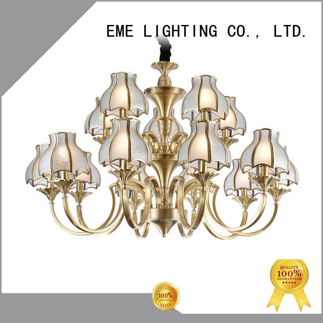 EME LIGHTING american style solid brass chandelier unique for big lobby