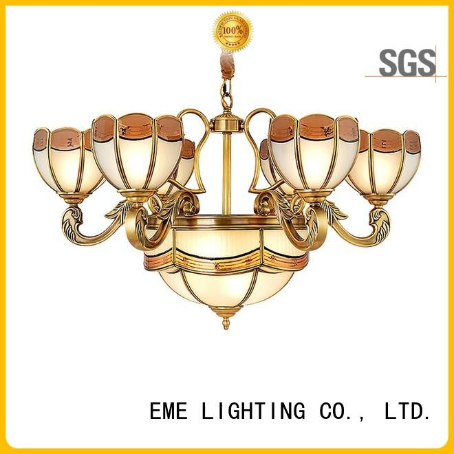 gold brass chandeliers american style for big lobby EME LIGHTING