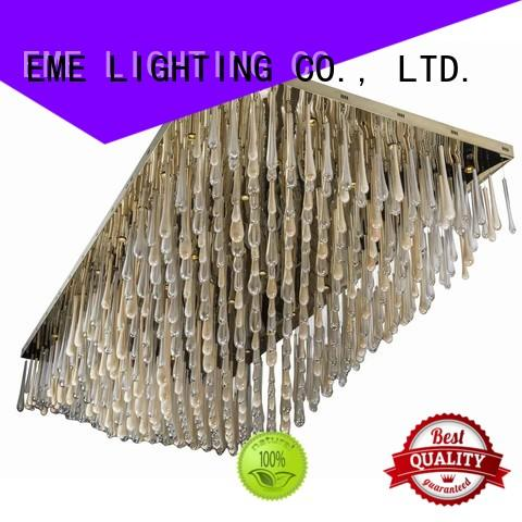 EME LIGHTING acrylic candle chandelier crystal European style for lobby