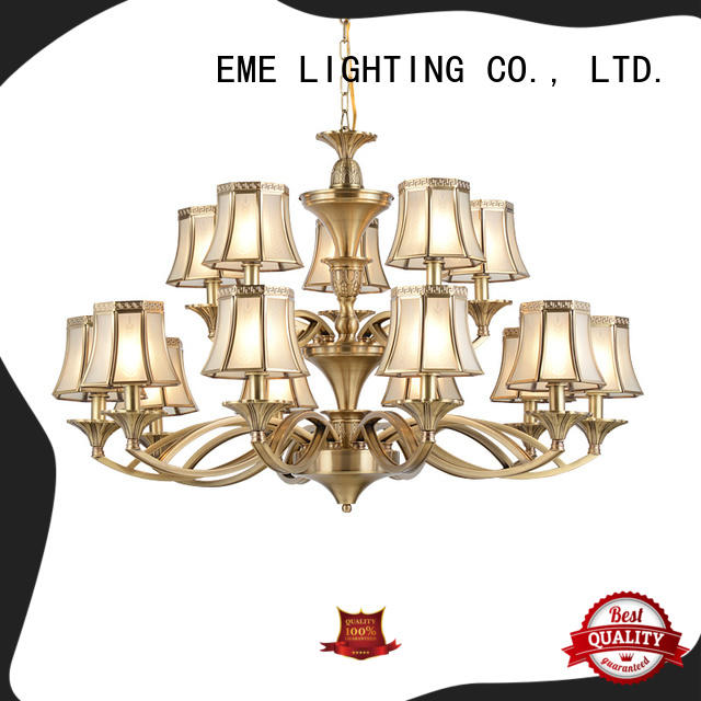 EME LIGHTING large solid brass chandelier residential for dining room