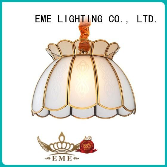 EME LIGHTING glass hanging restaurant chandeliers round for dining room