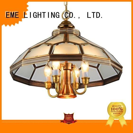 EME LIGHTING antique 3 light brass chandelier copper for home