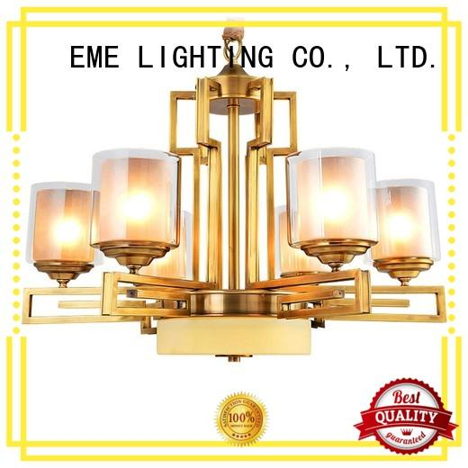 EME LIGHTING concise 3 light brass chandelier traditional