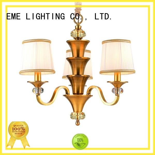 american style solid brass chandelier vintage for dining room EME LIGHTING