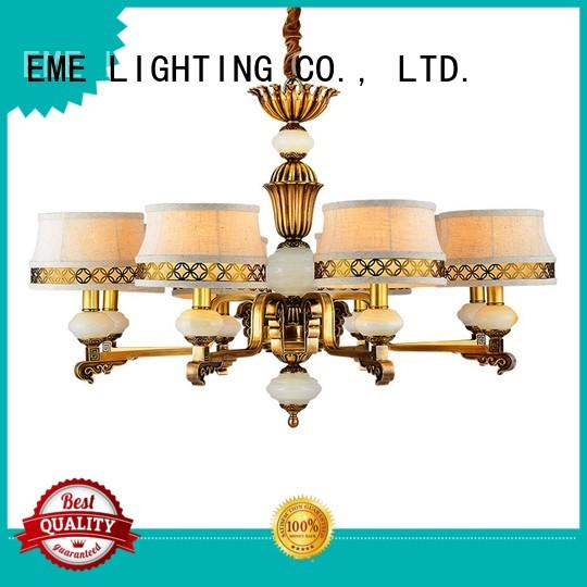 EME LIGHTING contemporary antique brass chandelier traditional for dining room