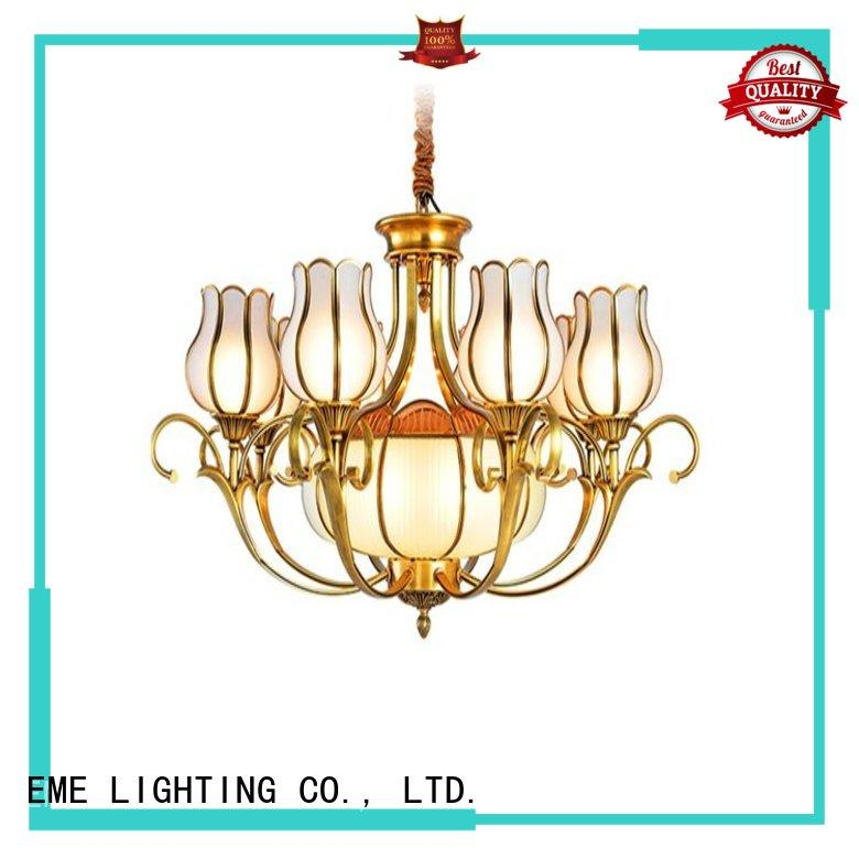 antique brass 5 light chandelier american style for big lobby EME LIGHTING
