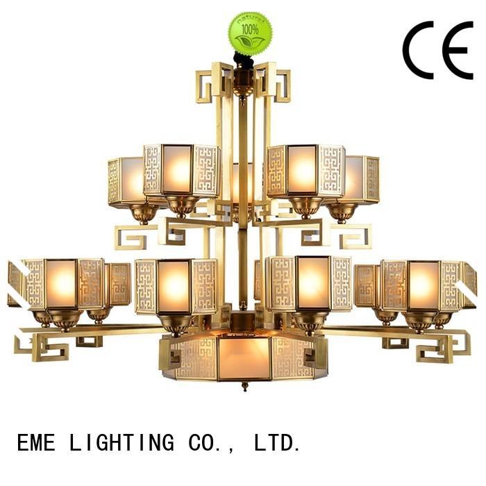 EME LIGHTING copper chandelier over dining table residential for home