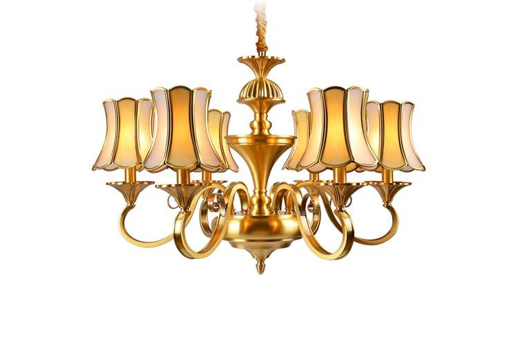 luxury vintage brass chandelier american style traditional for big lobby-1