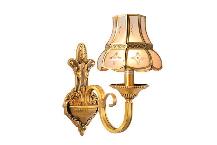 vase shape brass wall sconce unique design free sample for restaurant