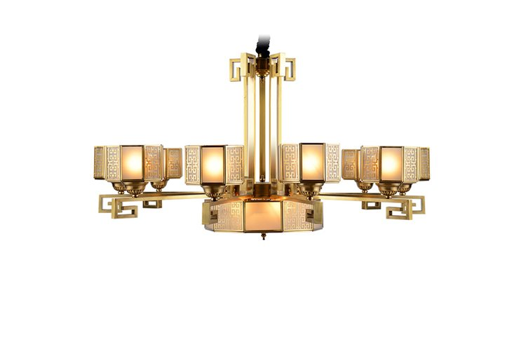 EME LIGHTING modern bronze crystal chandelier vintage for home-1