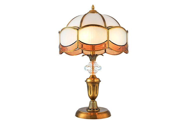 contemporary glass table lamps for living room European style brass material for study-1