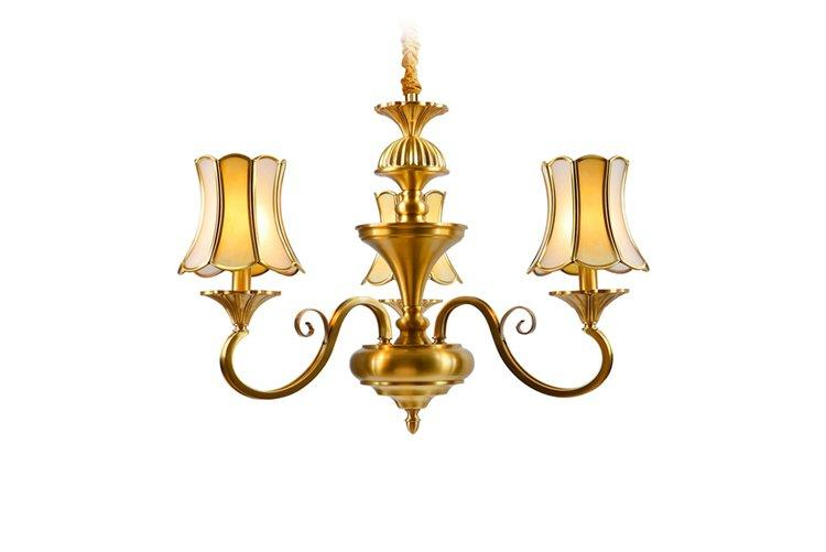 Wholesale light big antique brass chandelier EME LIGHTING Brand
