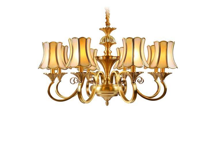 Custom home antique brass chandelier large EME LIGHTING