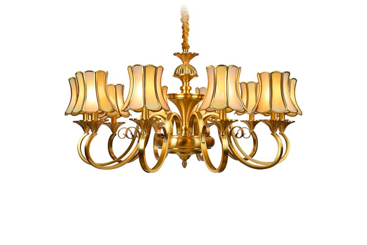 EME LIGHTING copper vintage brass chandelier unique for dining room-1
