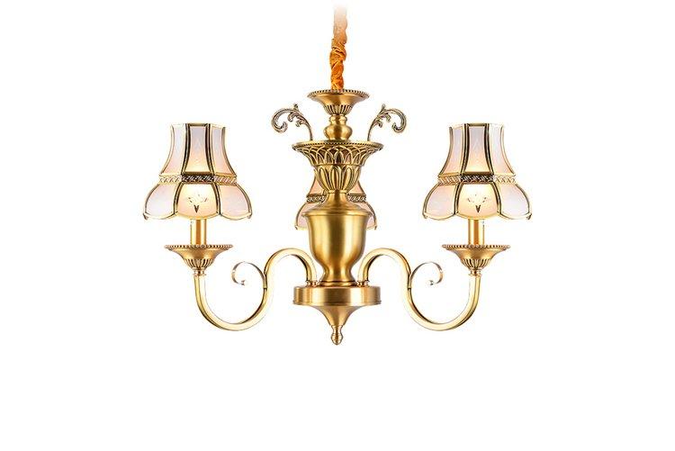 EME LIGHTING glass hanging vintage brass chandelier vintage for dining room-1